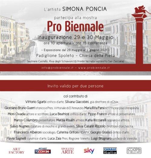 Probiennale 2021Padiglione Spoleto - Chiesa della Pietà- Veneziadal 29 maggio al 2 giugno