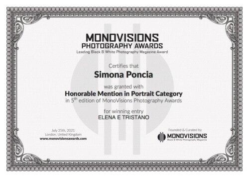 "Honorable Mentioncategoria Portrait""Elena e Tristano"""